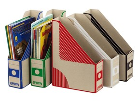 Document box EMBA A4 75mm modrý