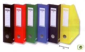 Magazin box jednobarevný A4 80mm červený