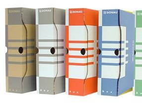 Krabice archivní DONAU A4  80mm šedá