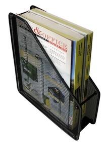 Kov.pořadač-magazin box černý A4