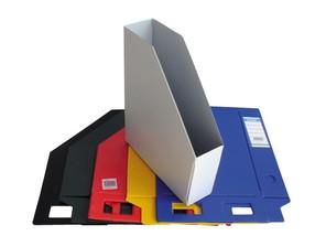 Box na časopisy plastový, skládací, bílý, Bantex - doprodej 3ks