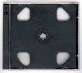 Krabička na 2CD, jewel, průhl., černý tray