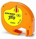 Páska Dymo LetraTag plastová žlutá hyper