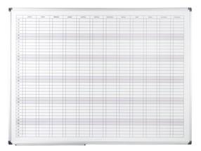 Tabule bílá plánovací roční 90 * 120 magnetická, hliníkový rám