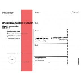 DORUČENKA červený pruh, C5 (162x217mm)  samopr.odtrh.okno, vlhčící, POUČENÍ,1145789