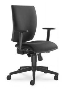 Židle kanc. LD LYRA 207-SY, černá D8033, včetně područek BR 207-AK