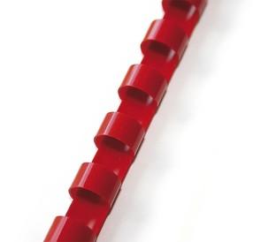 Hřbet plastový  6mm červený bal.100ks