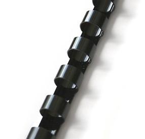 Hřbet plastový  8mm černý bal.100ks