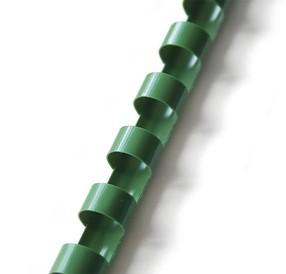Hřbet plastový  8mm zelený bal.100ks