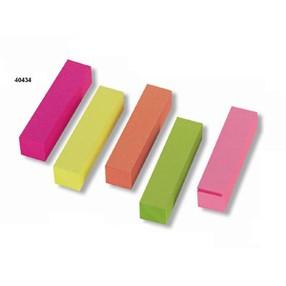 Záložka samolepící papírová 15x50mm, 5x100 bar.lístků 7154