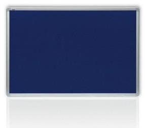 Tabule textilní 120* 90 hliníkový rám modrá, filcová