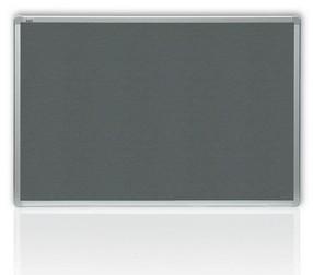 Tabule textilní 120* 90 hliníkový rám šedá, filcová