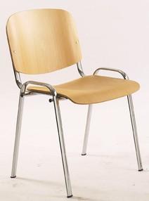 Židle konf. 1120 LC  buk, chrom.kostra