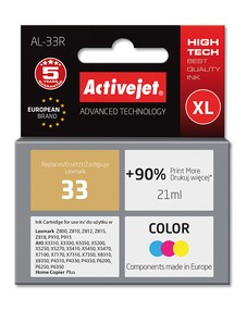 Cartridge Lexmark 18C0033E barevná č.33 (20ml) ActiveJet standard (AL-33R)