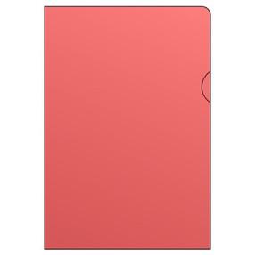 """Obal zakládací """"L"""" A4 150mic bar.červený hladký bal.10ks, PVC"""