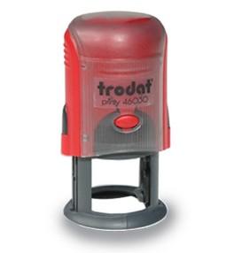 Razítko textové (zakázkové) Trodat 46030 printy kulaté D30, barva nosiče červená