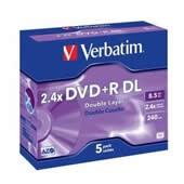 DVD+R 8,5GB Verbatim Double Layer, 8x, jewel, ks