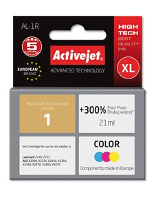 Cartridge Lexmark 18C0781 barevná č. 1 (18ml) ActiveJet New (AL-1R)