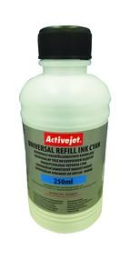 Refill inkoust univerzální  250 ml. Cyan ActiveJet URB-250C