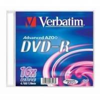 DVD-R 4,7GB Verbatim  DLP 16x slim, ks