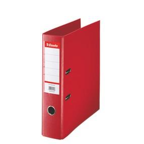 Pořadač pákový Esselte PP červený 75mm - celoplast