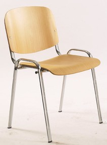 "Židle konf. 1120 L buk, kostra ""hliník"" (RAL9006)"