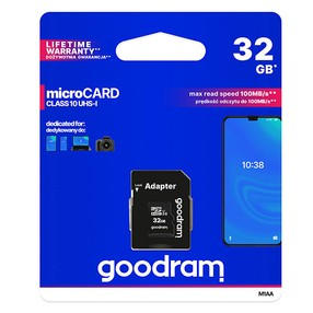 SD Card  32GB SDHC Micro s SD adapeterem