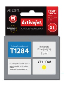 Cartridge EPSON T1284 yellow ( 13 ml) ActiveJet AE-1284N