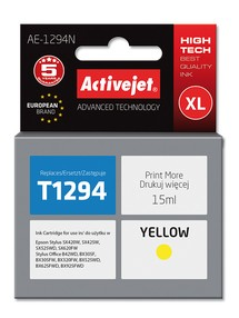 Cartridge EPSON T1294 yellow ( 15 ml) ActiveJet AE-1294N
