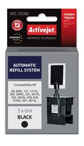Refill aplikátor ActiveJet HP 300/301/901 Bk 3x6ml ARS-300B
