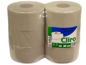 Papír toaletní Jumbo 1vrstvý šedý role 19cm bal.6 ks