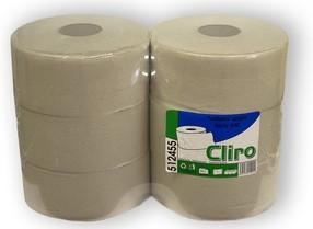 Papír toaletní Jumbo 1vrstvý šedý role 24cm bal.6 ks