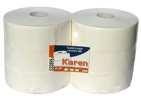 Papír toaletní Jumbo 2vrstvý bílý role 28cm  bal.6 ks