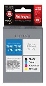 Cartridge EPSON T0715 MULTIPACK (60 ml) ActiveJet AEB-715N