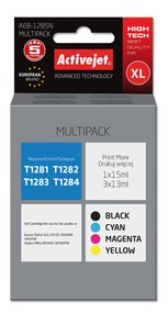 Cartridge EPSON T1285 MULTIPACK ( 54 ml) ActiveJet AEB-1285N