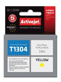 Cartridge EPSON T1304 yellow (18 ml) ActiveJet AE-1304N