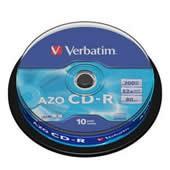 CD-R 700MB Verbatim DL EPS 52x spindl 10 ks, cena za bal.