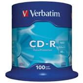 CD-R 700MB Verbatim DL EPS 52x spindl 100 ks, cena za bal.