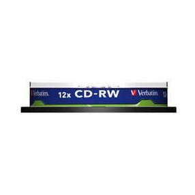CD-RW 700MB Verbatim  8-12x, spindl 10 ks, cena za bal.