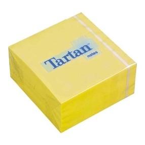 Bloček samolepící-kostka  76x 76mm, 400 žlutých lístků TARTAN