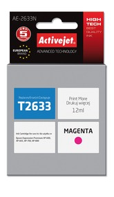 Cartridge EPSON T2633 č.26XL magenta (12 ml) ActiveJet AE-2633N