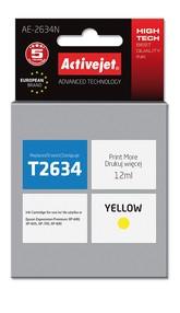 Cartridge EPSON T2634 č.26XL yellow (12 ml) ActiveJet AE-2634N