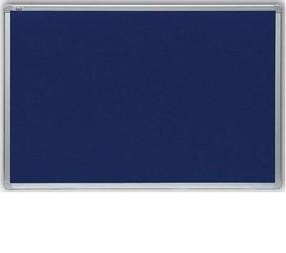 Tabule textilní 120*180 hliníkový rám modrá, filcová
