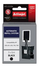 Refill aplikátor ActiveJet HP 703/704/650 Bk 3x6ml ARS-650B