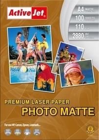 Fotopapír ActiveJet 110g/m2 A4/100 listů LASER Premium Photo Matte  AP4-110M100L