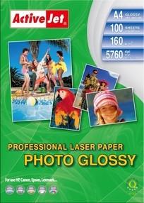 Fotopapír ActiveJet 160g/m2 A4/100 listů LASER Professional Photo Glossy  AP4-160G100L