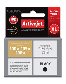 Cartridge Lexmark 14N1068E černá č.100XL/108XL (25ml) ActiveJet CHIP (AL-100BN)