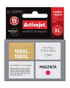 Cartridge Lexmark 14N1070E magenta č.100XL/108XL (13ml) ActiveJet CHIP (AL-100MN)