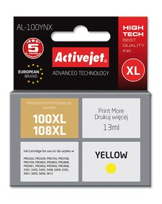Cartridge Lexmark 14N1071E yellow č.100XL/108XL (13ml) ActiveJet CHIP (AL-100YN)