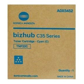 Toner Konica Minolta pro Bizhub C35/P, modrý, TNP-22C (6000 str.) orig